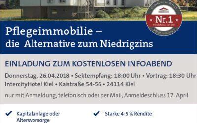Veranstaltung zum Thema Pflegeimmobilie