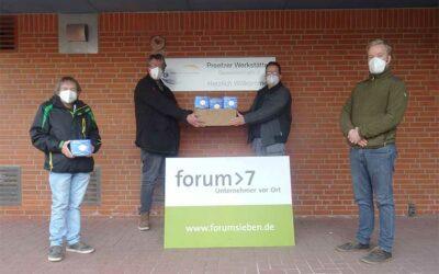forum > 7 spendet FFP2-Masken für die Lebenshilfe